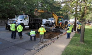 Water main break on Columbia Pike (file photo)
