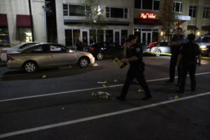 Critical pedestrian accident near the intersection of N. Highland Street and Clarendon Blvd