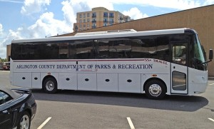New Arlington County Department of Parks and Recreation bus, which is used for the Senior Adult Travel Program (photo courtesy Arlington County DPR)