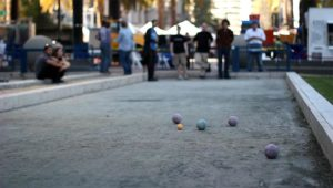 Bocce being played (file photo via Wikipedia)