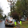 Dominion crew inspects line on N. Jacksonville Street