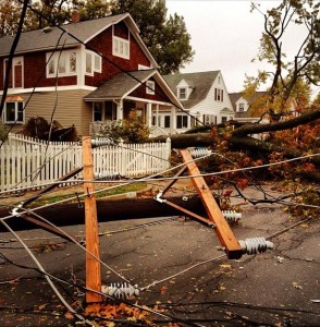 Downed utility lines on the 4700 block of 6th Street S. (photo courtesy Ddimick)