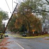Leaning utility pole shuts N. 15th Street from Vermont Street to Utah Street in Waverly Hills