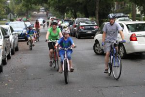 Walk and Bike to School Day 2012 at Oakridge Elementary School in October 2012