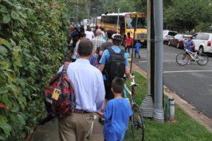 Walk and Bike to School Day 2012 at Oakridge Elementary School