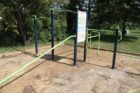New fitness equipment along the Four Mile Run Trail near Shirlington