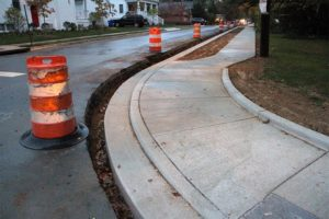 New sidewalk along 8th Street S. (file photo)