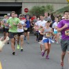 Marine Corps Marathon scenes in Pentagon City (photo by ARLnow.com)