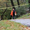 Police investigate a likely suicide on the Four Mile Run Trail under Columbia Pike
