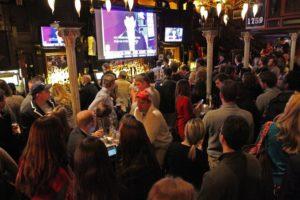 Republicans watch election returns at RiRa Irish Pub in Clarendon