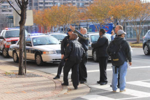 Man falls from Ballston parking garage