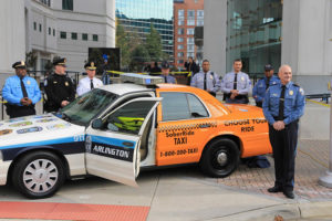 Unveiling of a half cab-half police cruiser
