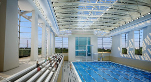 Renderings of the future Long Bridge Park Aquatics, Health & Fitness Facility