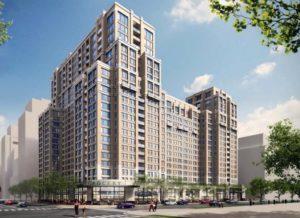 Rendering of Vornado's planned Metropolitan Park apartment building