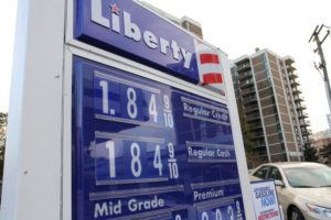 Cheap gas promotion on Columbia Pike