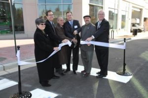 Ribbon cutting ceremony for new office building at 1776 Wilson Blvd