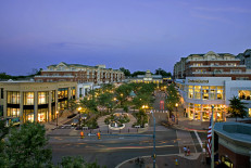 Market Common at twilight
