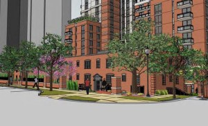 Rendering of the future Pierce Queen Apartments