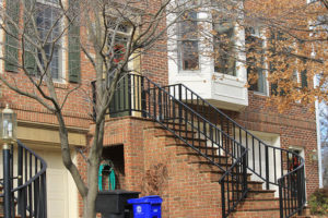 A townhouse near Rosslyn that was searched by the FBI