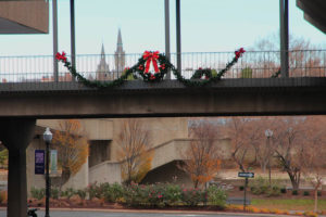 Holiday decorations in Rosslyn
