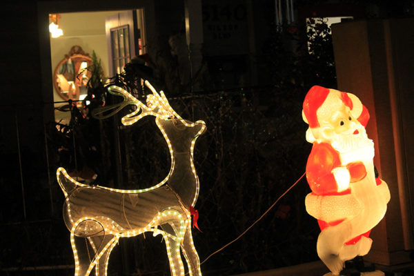 Santa in front of No Place Like Home & Covet (5140 Wilson Blvd)