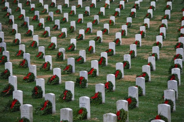 Wreaths at Arlington National Cemetery by Sunday Money