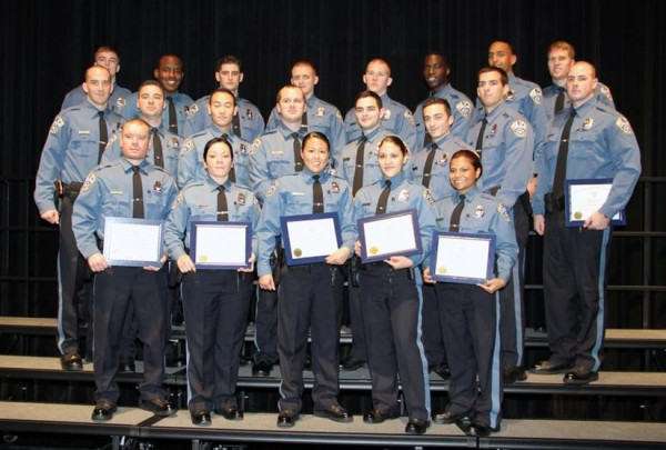 Arlington County Police Department recruits at a graduation ceremony