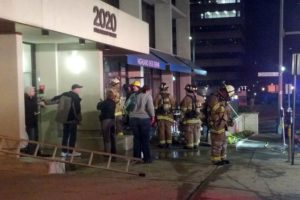 Fire at Highland Shoe Repair in Courthouse