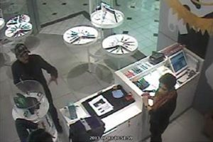 Surveillance footage of an alleged police impersonator at Pentagon City mall (Photo courtesy Arlington County Police Department)