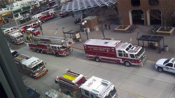 Emergency response at the Ballston Metro station (photo courtesy @Go88fish)