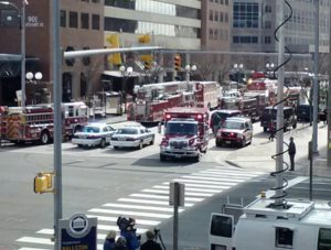 Emergency response at the Ballston Metro station (photo courtesy Nicolevins)