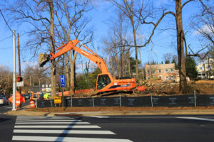 Excavation at Washington Blvd and N. George Mason Drive