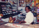 Dr. Leonard Muse at Green Valley Pharmacy in Nauck (undated photo via Arlington County website)