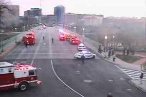 D.C. police block the Key Bridge due to a person threatening to jump