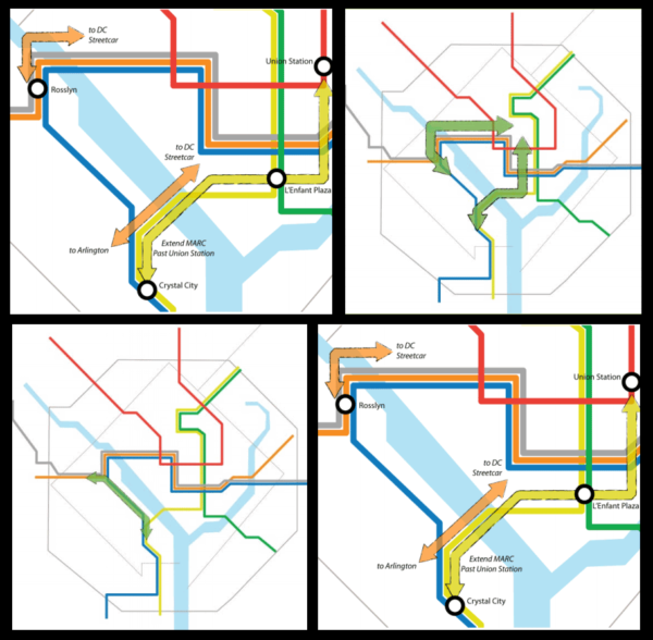 Illustrations of capital improvements proposed by Metro