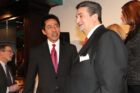Walter Tejada and Ted Leonsis at the Ballston BID launch event