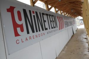 Construction on 19Nineteen Clarendon in Courthouse