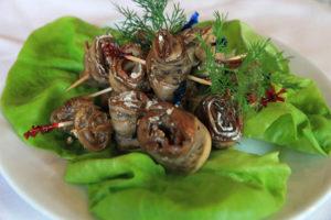 Eggplant rolls at Rus Uz