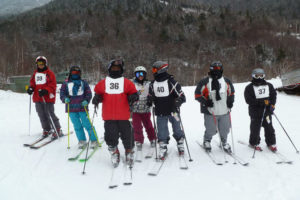 Special Olympics ski team athletes