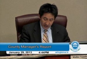 County Board Chair Walter Tejada at the Board's Jan. 29 meeting