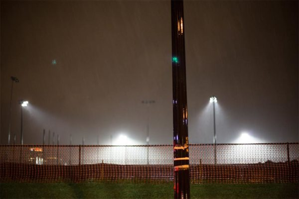 Foggy lights at Washington-Lee High School by Ddimick