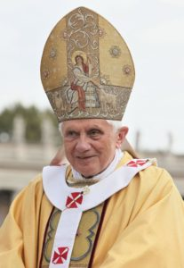 Pope Benedict XVI (photo via Wikipedia)