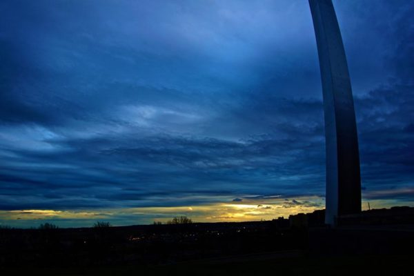 Winter sky as seen from the Air Force Memorial (photo by Wolfkann)
