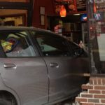 A car plowed into a Lee Highway Pizza Hut restaurant (photo courtesy @CAPT258)