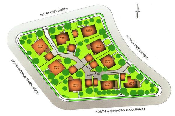 Lacey Lane subdivision plan