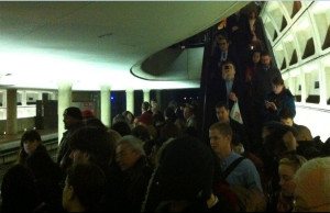 Pentagon City Metro crowding (photo via @ferresej)