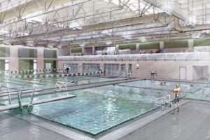 Sketch of the new Wakefield High School aquatics center