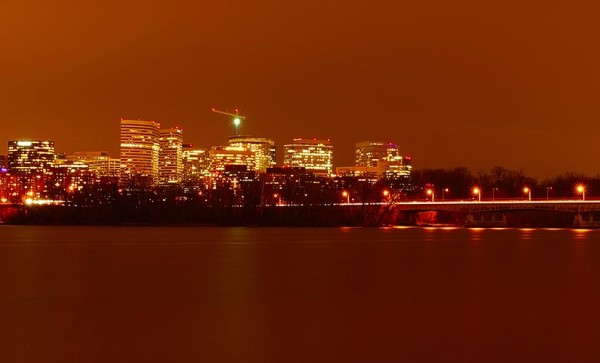 View of Rosslyn across the Potomac (Flickr pool photo by Wolfkann)