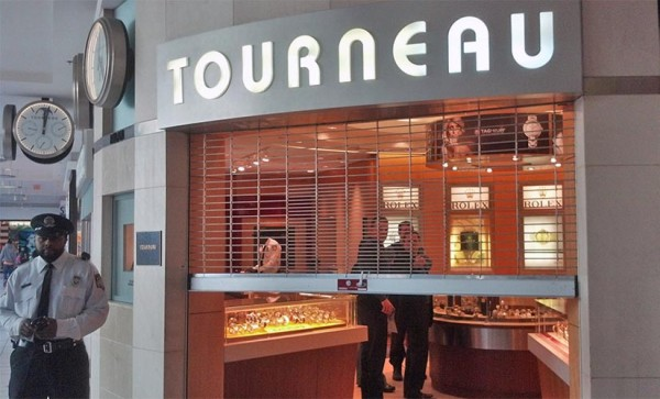 A smash and grab robbery at the Tourneau store at Pentagon City mall on 3/19/13