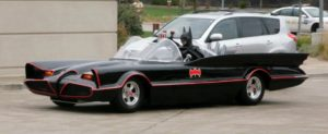 Lenny B. Robinson and his vintage Batmobile
